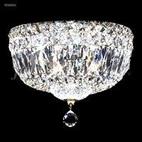 James R. Moder 92310S11 Prestige Collection 3 Light 10 inch Silver Flush Mount Ceiling Light