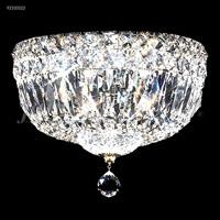 James R. Moder 92310S22 Prestige 3 Light 10 inch Silver Flush Mount Ceiling Light