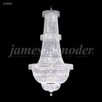 James R. Moder 92435S00 Prestige 47 Light 36 inch Silver Entry Chandelier Ceiling Light Large