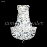 James R. Moder 92511S11 Prestige 3 Light 11 inch Silver Crystal Chandelier Ceiling Light