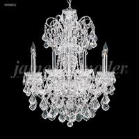 James R. Moder 93908S11 Maria Elena 8 Light 26 inch Silver Chandelier Ceiling Light