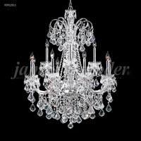 James R. Moder 93912S11 Maria Elena Collection 12 Light 33 inch Silver Chandelier Ceiling Light