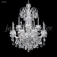 James R. Moder 93914S11 Maria Elena 24 Light 48 inch Silver Chandelier Ceiling Light