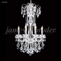 James R. Moder 93916S00 Maria Elena 8 Light 27 inch Silver Crystal Chandelier Ceiling Light