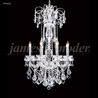 James R. Moder 93916S11 Maria Elena Collection 8 Light 27 inch Silver Chandelier Ceiling Light