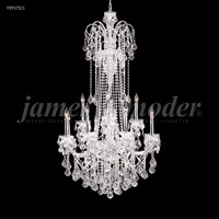 James R. Moder 93917S11 Maria Elena 12 Light 33 inch Silver Entry Chandelier Ceiling Light
