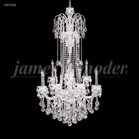 James R. Moder 93917S22 Maria Elena 12 Light 33 inch Silver Entry Chandelier Ceiling Light