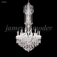 James R. Moder 93928S11 Maria Elena 48 Light 77 inch Silver Entry Chandelier Ceiling Light