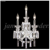 James R. Moder 93943S00 Buckingham Collection 3 Light Silver Wall Sconce Wall Light