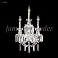 James R. Moder 93943S11 Buckingham Collection 3 Light Silver Wall Sconce Wall Light