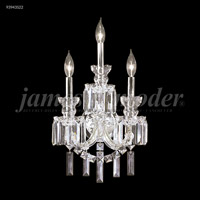 James R. Moder 93943S22 Buckingham 3 Light Silver Wall Sconce Wall Light
