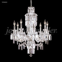 James R. Moder 93948S22 Buckingham Collection 8 Light 26 inch Silver Chandelier Ceiling Light