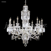 Buckingham 10 Light 33 inch Silver Chandelier Ceiling Light