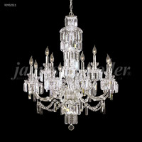 James R. Moder 93952S11 Buckingham 12 Light 33 inch Silver Entry Chandelier Ceiling Light