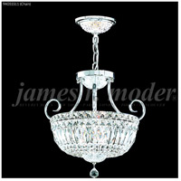 James R. Moder 94051S11 Signature 3 Light 15 inch Silver Mini Chandelier Ceiling Light