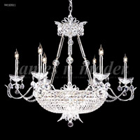 James R. Moder 94110S11 Princess Collection 22 Light 32 inch Silver Chandelier Ceiling Light