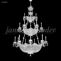 James R. Moder 94115S00 Princess 64 Light 48 inch Silver Entry Chandelier Ceiling Light