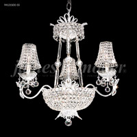 James R. Moder 94121S00-55 Princess 9 Light 25 inch Silver Chandelier Ceiling Light