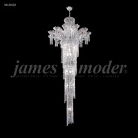 James R. Moder 94122S22 Princess 22 Light 32 inch Silver Entry Chandelier Ceiling Light