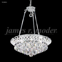 James R. Moder 94138S11 Jacqueline 6 Light 19 inch Silver Mini Chandelier Ceiling Light