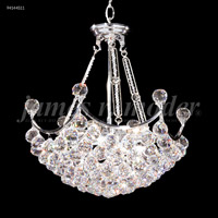 James R. Moder 94144S11 Jacqueline Collection 9 Light 19 inch Silver Chandelier Ceiling Light