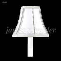 James R. Moder 94155S55 Shades & Accessories Silver Silk with Crystal 3 inch Non-Tilt Silk Shade