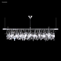 Fashionable Broadway 9 Light Silver Linear Chandelier Ceiling Light