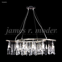James R. Moder 94162S11 Fashionable Broadway 10 Light 36 inch Silver Linear Chandelier Ceiling Light, Adjustable