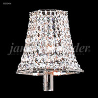 James R. Moder 94188S11 Non-Tilt Silver with Crystal 3 inch Shade