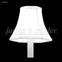 James R. Moder 94195S95 Shades & Accessories Silver Shantung Silk 3 inch Non-Tilt Silk Shade