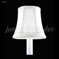 James R. Moder 94197W97 Shades & Accessories White Silk 3 inch Clip-on Silk Shade