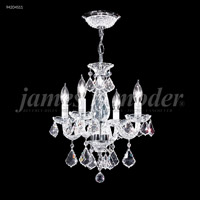 James R. Moder 94204S11 Vienna 4 Light 14 inch Silver Crystal Chandelier Ceiling Light