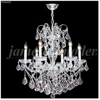 James R. Moder 94206S00 Vienna 6 Light 26 inch Silver Crystal Chandelier Ceiling Light