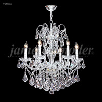 James R. Moder 94206S11 Vienna 6 Light 26 inch Silver Crystal Chandelier Ceiling Light