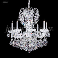 James R. Moder 94208S11-XF Vienna 8 Light 26 inch Silver Crystal Chandelier Ceiling Light