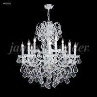James R. Moder 94212S11 Vienna 12 Light 30 inch Silver Crystal Chandelier Ceiling Light