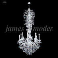 James R. Moder 94218S11 Vienna 12 Light 33 inch Silver Entry Chandelier Ceiling Light, Large
