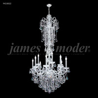 James R. Moder 94218S22 Vienna 12 Light 33 inch Silver Entry Chandelier Ceiling Light, Large