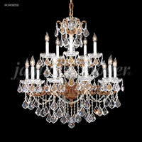 James R. Moder 94340BZ00 Madrid Cast Brass 15 Light 33 inch Bronze Crystal Chandelier Ceiling Light