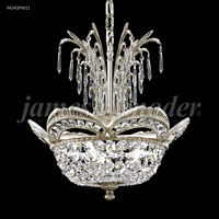 James R. Moder 94343PW11 Dynasty 3 Light 17 inch Pewter Mini Chandelier Ceiling Light