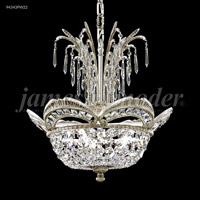 James R. Moder 94343PW22 Dynasty 3 Light 17 inch Pewter Mini Chandelier Ceiling Light