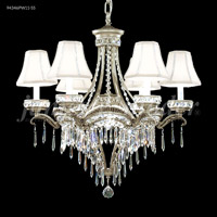 James R. Moder 94346PW11-55 Dynasty 7 Light 25 inch Pewter Chandelier Ceiling Light