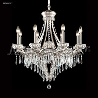 James R. Moder 94348PW11 Dynasty Cast Brass 9 Light 30 inch Pewter Crystal Chandelier Ceiling Light