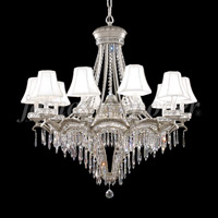 James R. Moder 94350PW11-55 Dynasty 13 Light 34 inch Pewter Chandelier Ceiling Light