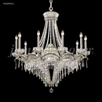James R. Moder 94350PW11 Dynasty Cast Brass 13 Light 34 inch Pewter Entry Chandelier Ceiling Light Large
