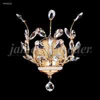 James R. Moder 94451S0T Florale Collection 1 Light Silver Wall Sconce Wall Light