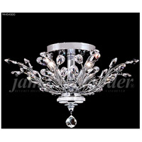 James R. Moder 94454S00 Florale Collection 4 Light 21 inch Silver Flush Mount Ceiling Light