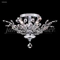 James R. Moder 94454S11 Florale 4 Light 21 inch Silver Flush Mount Ceiling Light