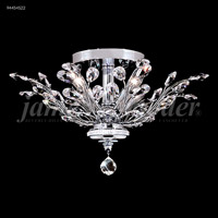 James R. Moder 94454G22 Florale Collection 4 Light 21 inch Gold Flush Mount Ceiling Light