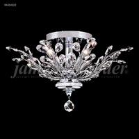 James R. Moder 94454G11 Florale 4 Light 21 inch Gold Flush Mount Ceiling Light